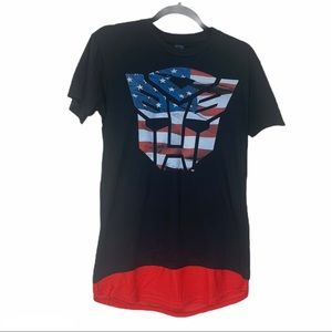 Transformers Autobots red white and blue shirt